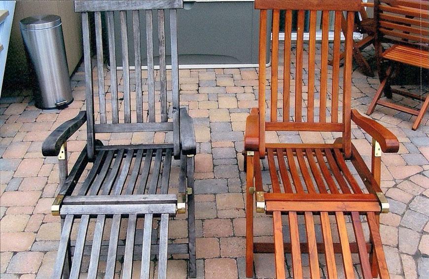 Chaise longue de patio (Avant-Après)